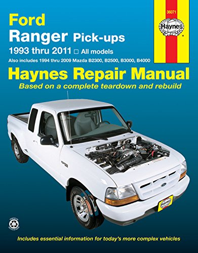 51nWO 6MK3L haynes repair manual ford ranger pick ups 1993 thru 2011, also 99 Mazda B4000 Fuse Diagram at alyssarenee.co