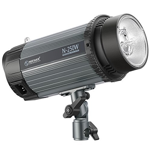 Neewer 250W 5600K Photo Studio Strobe Flash Light Monolight with Modeling Lamp, Aluminium Alloy Professional Speedlite for Indoor Studio Location Model Photography and Portrait Photography (N-250W) (Strobe Light Photography)