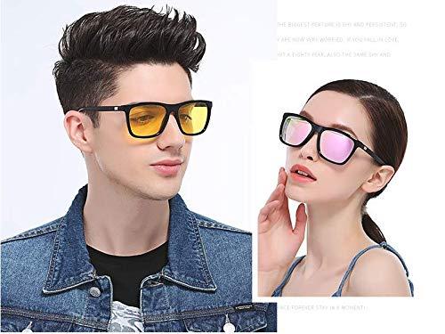 Bevi Unisex Polarized Sunglasses Wayfarer UV400 Brand Designer Sun glasses 0733C8BKPK by Bevi (Image #1)