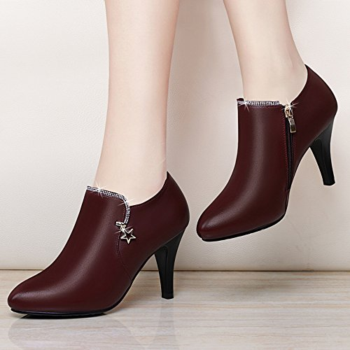 Autumn New KPHY seven And Women'S Aged Single Heels Heel Middle Thirty Heel Shoes Ladies Leisure qqXrY1