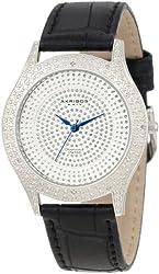 Akribos XXIV Women's AKR464SS Brillianaire Diamond Silver Swiss Quartz Strap Watch