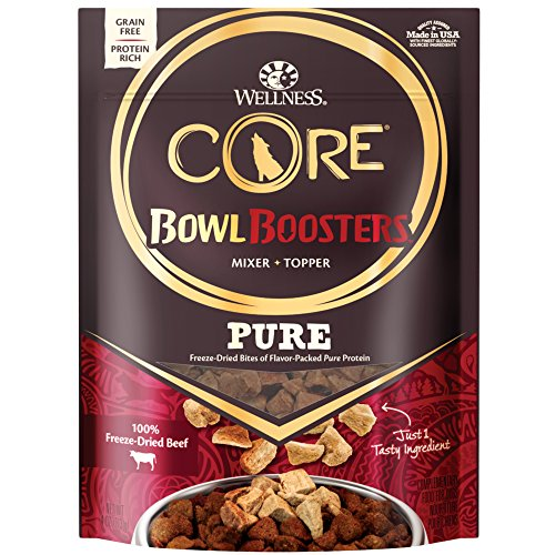 Image of Wellness Core Natural Grain Free Bowl Boosters Pure Dog Food Mixer Or Topper, Freeze Dried Beef, 4-Ounce Bag