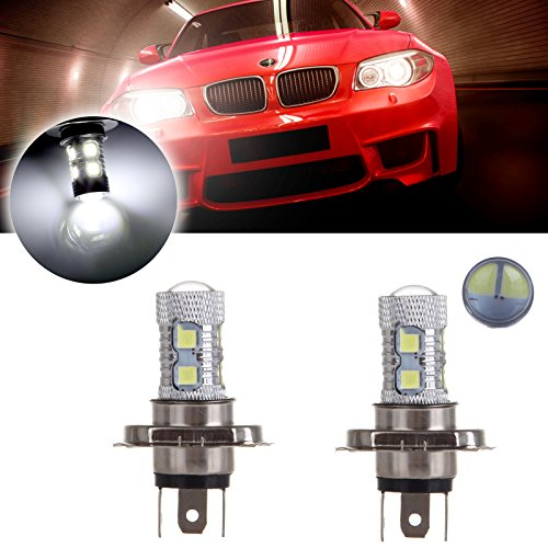 Aveo Chevrolet Sedan 2007 (cciyu 2Pack 12V Hight Power 8SMD H4 9003 HB2 CREE LED Hight Low Beam Headlight Driving Fog Lamp Bulb with Projector)