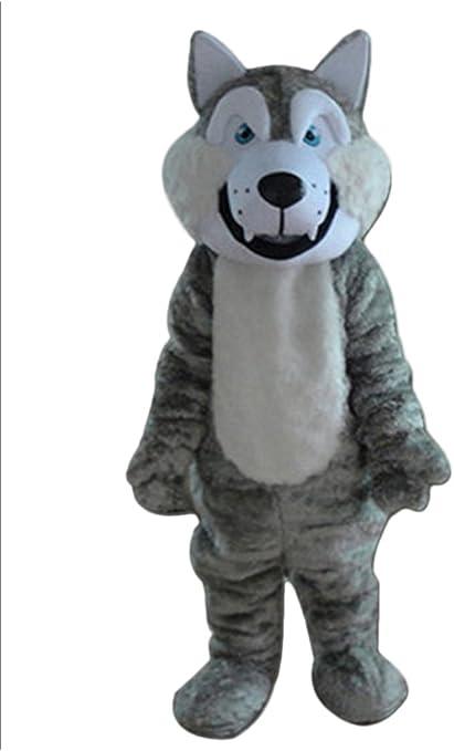 Bobblehead Lobo Gris Mascota Disfraz Adulto tamaño Cartoon ...