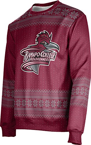ProSphere Ramapo College of New Jersey Ugly Holiday Unisex Sweater - Chill FE5A2 Red and Gray
