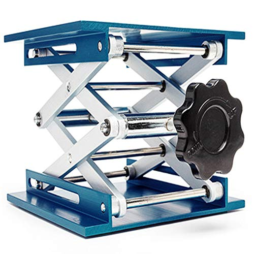 OESS Lift Table Lab Stand Lifter Scientific Scissor Lifting Jack Platform 8''X 8'' Aluminium Oxide ()