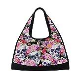 Skull Gym Sports Bag, Yoga Weekend Duffel Cute Travel Luggage Sport Training