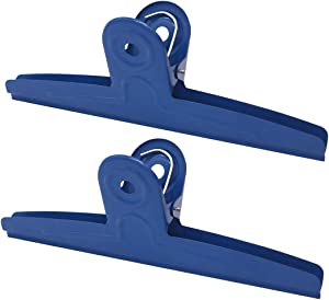 Extra Large Bulldog Clips 2 Pack 1 FT Blue Huge Jumbo Stainless Steel Clips Paper Clamps Holder for Drawing Board Poster Clamping Bag