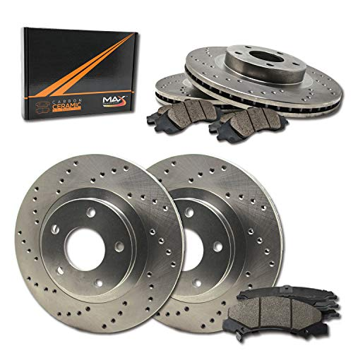 ear Performance Brake Kit [ Premium Cross Drilled Rotors + Ceramic Pads ] KT009923 | Fits: 2005 05 VW Jetta Wagon GLS Turbo/GLS VR6 / GLX 288mm Dia Front Rotors ()