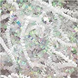 Crinkle Cut Paper Shred Filler (1/2 LB) for Gift Wrapping & Basket Filling - Diamond White   MagicWater Supply