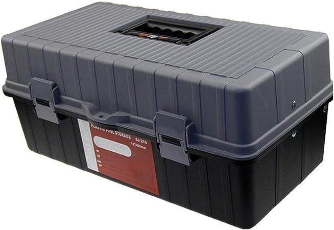 ZSHLZG Caja de Herramientas de plástico Tres Pisos Plegables Espesar Electricista Art Modelo Caja de Almacenamiento: Amazon.es: Hogar