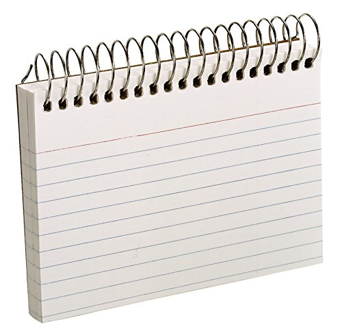 - Oxford Spiral Ruled Index Cards, 3 x 5 Inches, White, 50 per Pack (40282)