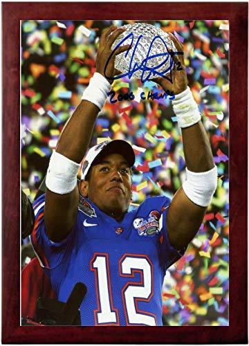 Chris Leak Autograph Replica Super Print - Florida Gators - Championship Trophy - Portrait - Framed