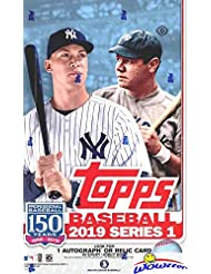 2019 Topps Series 1 MLB Baseball MASSIVE 24 Pack Factory Sealed HOBBY Box with 384 Cards & AUTOGRAPH or RELIC Card! Loaded with Rookies, Inserts & Parallel Cards! Always a Home Run! Brand New! WOWZZER