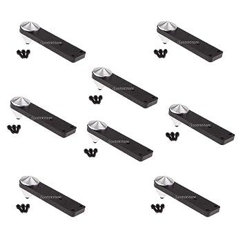 perfeclan - Pack de 8 Patas de Aluminio para Soporte de Suelo con ...