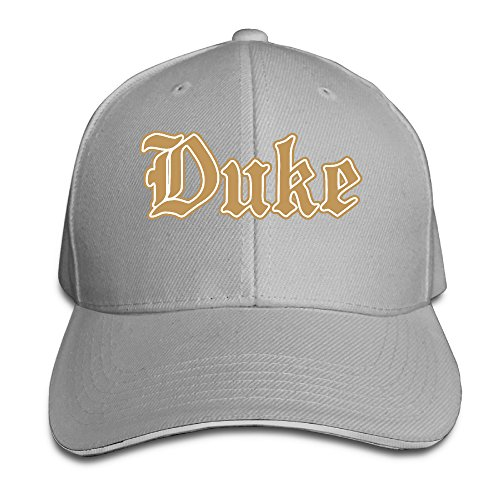 Price comparison product image Unisex Duke Blue Devils Perfect Adjustable Sandwich Peaked Sun Cap / Hat Ash