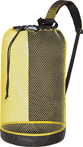 Stahlsac B.V.I. Mesh Backpack Perfect for Snorkeling Gear Snorkel Scuba Dive Diving Diver Beach Gear Boat Boating Sail Boat Sailing Travel Tote, Yellow Dive Bags