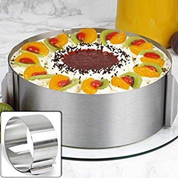 lzn stainless steel Circle Ring cake Mould regolabile 16cm–30cm