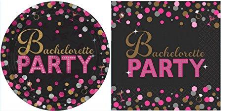 Bachelorette Party Tableware Set (48 Pieces) (Bachelorette Plates)