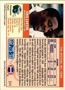 1989 Pro Set Football Rookie Card #314 Cris Carter Mint
