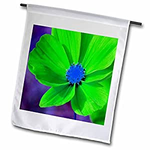 Yves Creations Florals and Bouquets - Vibrant Green Flower - 12 x 18 inch Garden Flag (fl_36934_1)