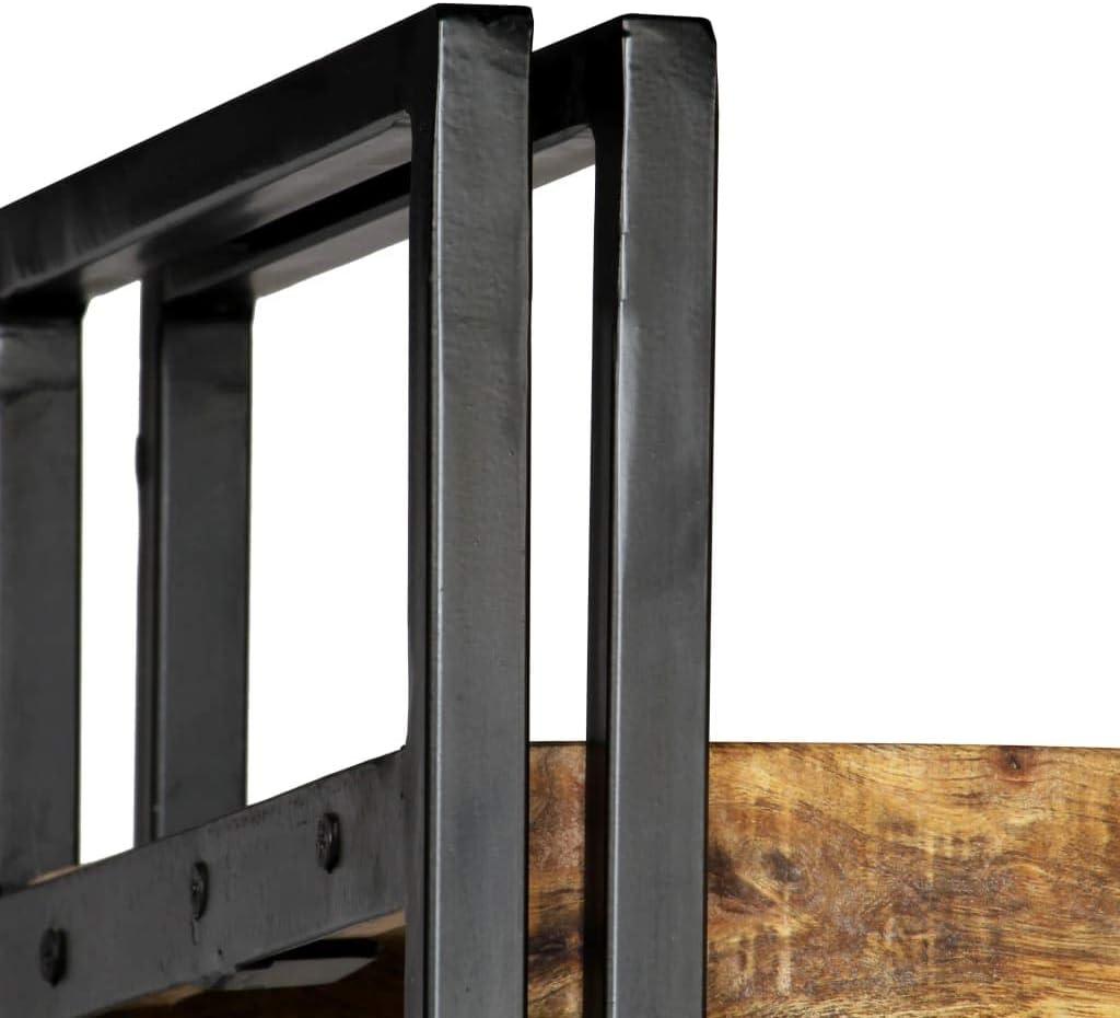 vidaXL Estanter/ía 5 Niveles Madera Acero 60x30x180 cm Estante Repisa Mueble