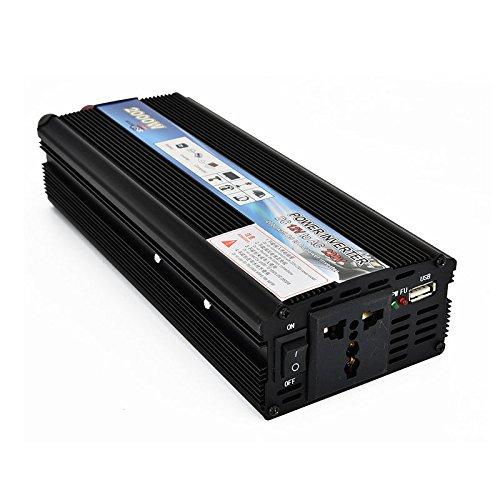 Camiones Camper Pastilla crewell 2000/W//4000/W Peak Car Power Inverter DC 12/V A 220/V AC USB Cargador convertidor Transformador para veh/ículos