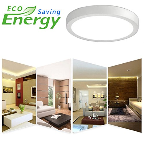 """LED Flush Mount Ceiling Light 8.86"""" 18W Round surface mounted ceiling lights 1400LM Daylight White 5000K Wall Fixture Lamps for Kitchen, Dinning Room,Bathroom-5pack Non Dimmable"""