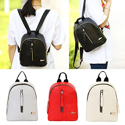 Women Bag Shoulder VJGOAL Schoolbags Leather Travel Backpacks Red R88da