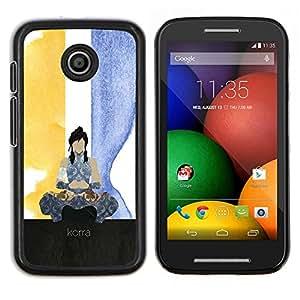 Jordan Colourful Shop - Korra For Motorola Moto E (1st Gen, 2014) Personalizado negro cubierta de la caja de pl????stico