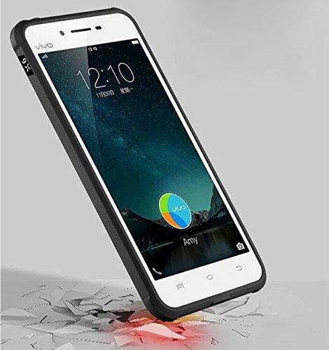 VIVO X6 Funda - Litastore Serie Negocios Shell a Prueba de Golpes Resistente Protector Suave Silicona Detrás Caso Para Cubierta VIVO X6 - Azul Gris