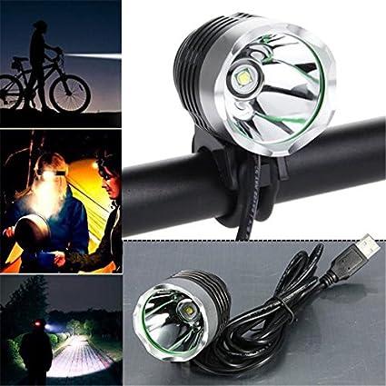 3000 Lumen XML T6 USB Interface LED Bike Bicycle Light Headlamp Headlight 3Mode