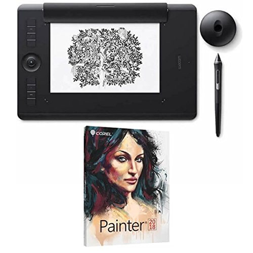 Wacom Intuos Pro Digital Graphic Drawing Pen Tablet Medium PTH660 with Corel Painter 2018 Academic by Wacom-Corel