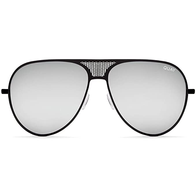 088bed5c92 Quay Australia X Kylie Jenner ICONIC Sunglasses in Black Silver + POM POM   Amazon.ca  Clothing   Accessories