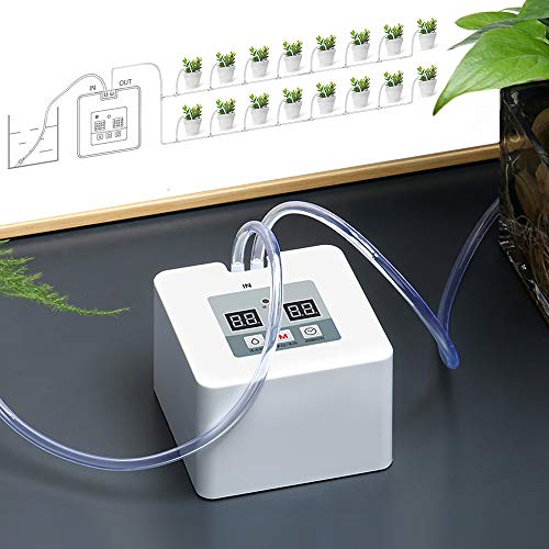DIY Micro Automatic Drip Irrigation Kit, Self Watering System with Timer and USB Charging Cable, 30-Day Programmable Water Timer for 15 Pots Flowers