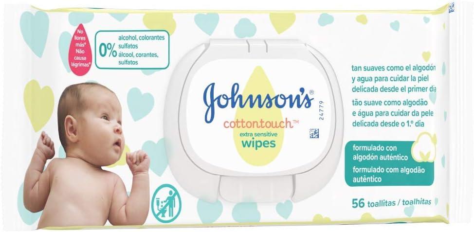 Johnsons Baby CottonTouch Toallitas con Algodón Auténtico - 18 packs de 56 Toallitas - Total: 1008 Toallitas: Amazon.es: Salud y cuidado personal