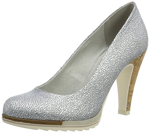 Marco Tozzi Damen 22423 Pumps Blau (Denim Metallic 884)