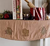 VHC Brands Christmas Holiday Decor - Cookie Cutter Red Mantel Scarf