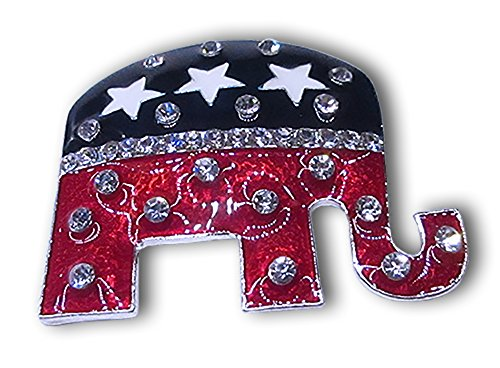 Pin Elephant Republican (Elephant Spirit GOP Republican Brooch Pin)