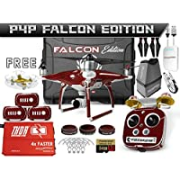 DJI Phantom 4 Advanced + (Plus) Falcon Edition Kit w/ Firebridge Long Range System, Nanuk 950 Wheeled Case, 3 Batteries, Thor Charger, Carbon Fiber Props & Guards, Phantom4 Adv Lens Filters, 64GB Card