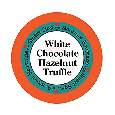 Smart Sips, White Chocolate Hazelnut Truffle Coffee, 24 Count, Single Serve Cups for Keurig K-cup Brewers