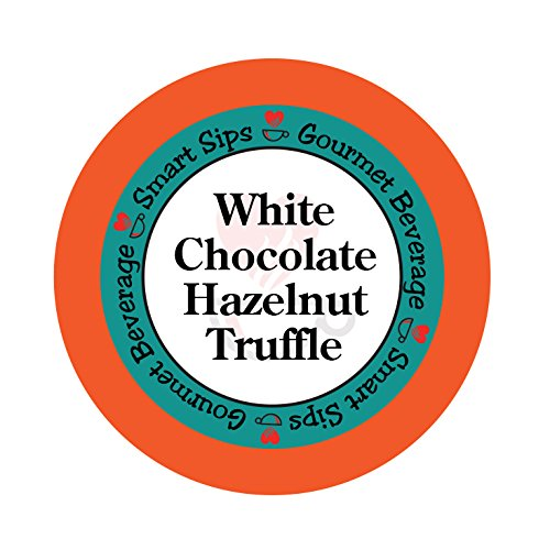 Jamaican Hot Chocolate - Smart Sips, White Chocolate Hazelnut Truffle Flavored Coffee, 24 Count, Single Serve Cups for Keurig K-cup Brewers