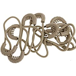 MagiDeal 10x Zipper Pulls Cord Rope Ends Lock Zip Slider Replacement Fastener Loops For Clothing/Bags Apparel Accessories - 3 Colors - Tan