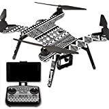MightySkins Protective Vinyl Skin Decal for 3DR Solo Drone Quadcopter wrap cover sticker skins Black Aztec