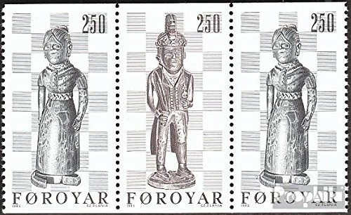 Denmark - Faroe Islands W4 (Complete.Issue.) 1983 Chessmen (Stamps for Collectors) Chess