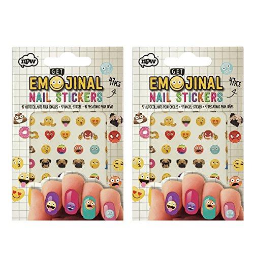 NPW Get Emojinal Emoji Nail Stickers Nail Art (2 pack)