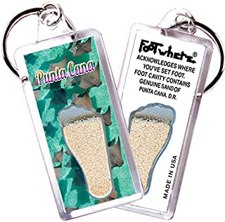 """product image for Punta Cana """"FootWhere"""" (PC104 - Stingrays). Authentic Destination Souvenir acknowledging Where You've Set Foot. Genuine Soil of Featured Location encased Inside Foot Cavity. Made in USA"""