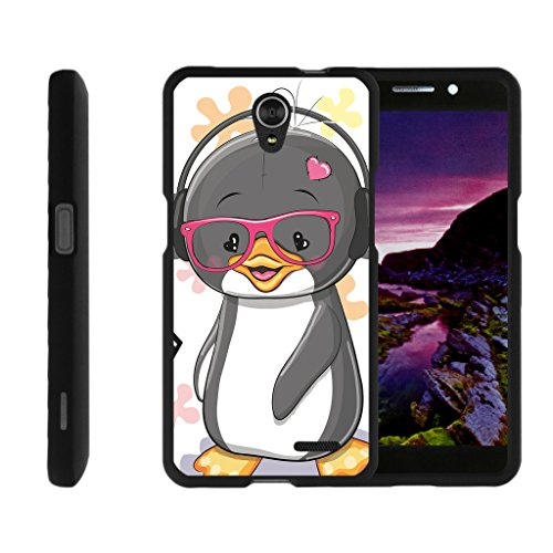 Penguin Duo (Compatible for ZTE Sonata 3 Case | Maven 2 Case | Chapel Case [Slim Duo] Hard Shell Snap On Case Compact Cover Matte on Black Sea Ocean Design by TurtleArmor - Cute Penguin)