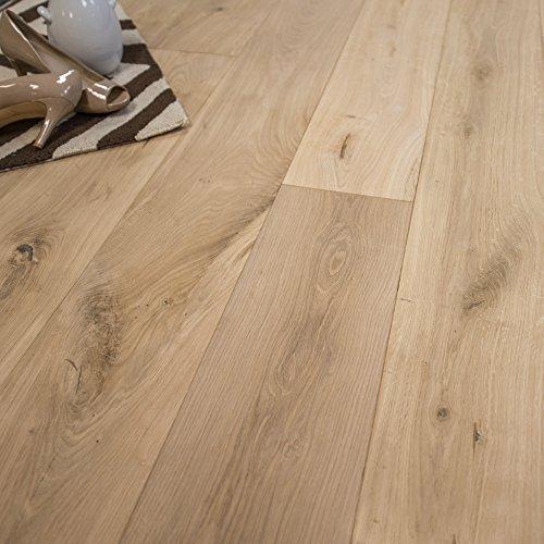 Unfinished Engineered Hardwood Flooring - Wide Plank 7 1/2 x 5/8 European French Oak Unfinished (Micro Bevel) Engineered Wood Flooring Sample at Discount Prices by Hurst Hardwoods