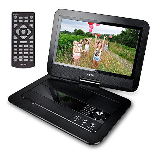 ueme 10 1 portable dvd player cd player with swivel. Black Bedroom Furniture Sets. Home Design Ideas